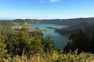 Stock Photo of Portugal, Azores, Sao Miguel, View from Caldeira das Sete Cidades to Lagoa Azul
