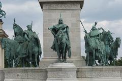 Millennium Monument - Heroes Square - Budapest - stock photo