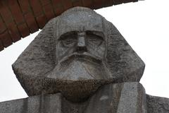 Marx - Engels - Communist Monument - Memento Park - Budapest Stock Photos
