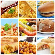 international dishes collage - stock photo