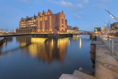 Germany, Hamburg, View of the International Maritime Museum at the Brooktorhafen Stock Photos