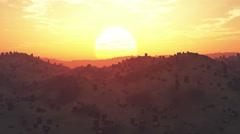 4K Deforestation Aerial 3D animation Stock Footage