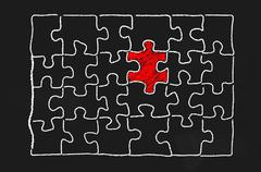The missing piece Stock Illustration