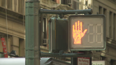 NYC Crosswalk Walk Sign. Don't Walk to Walk. NYC Traffic. Stock Footage