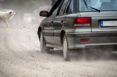 Large car in a rush - stock photo