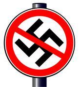 no nazi street sign - stock illustration