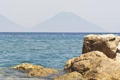 Brolo beach, Messina, Sicily Stock Photos