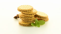 Sandwich biscuits with vanilla filling Stock Footage