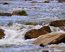 spring rapids river - stock photo