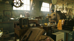 Visiting a flea market in Normandy, France Stock Footage