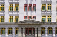 Singapore, Ministry of cultural affairs, Community and Youth, Facade Stock Photos