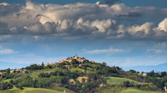 Time Lapse sequence of landscape with clouds movement. Stock Footage