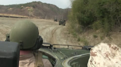 Assault Amphibious Vehicle Weapons Training Stock Footage