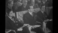Audience and newsmen at Nato press conference Stock Footage