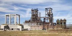 Germany, North Rhine/Westphalia, Dortmund/Hoerde, Phoenix West, abandoned blast - stock photo