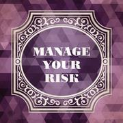 Manage Your Risk Concept. Vintage design. Stock Illustration