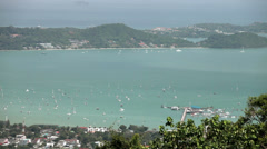 Stock Video Footage of Thailand. Phuket Island. Representation yachts are nareyde