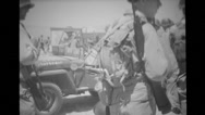 Military soldiers inspecting damaged vehicles Stock Footage