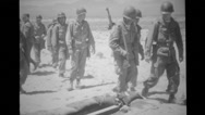 Soldiers walking past sheep in the pit Stock Footage