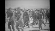 Troops of military soldiers walking Stock Footage