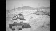 Military tanks on maneuvers Stock Footage