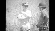 Military soldiers and officers at military training Stock Footage
