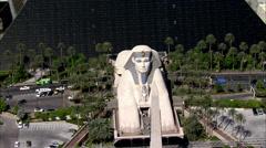 Las Vegas Strip Hotels Luxor Stock Footage