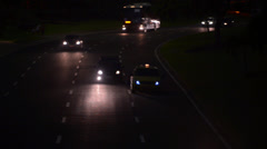 Cars on the Road by Night - stock footage