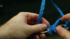nylon rope - stock footage