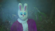 Stock Video Footage of eerie easter bunny  creepy