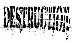 Destruction Stock Illustration