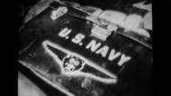 US Navy emblem on box Stock Footage