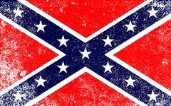Confederate civil war flag Stock Illustration