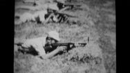 Military soldiers aiming and shooting during training Stock Footage