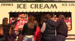 Ice cream van Stock Footage