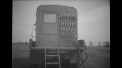 Communication control truck at military base Free Stock Footage