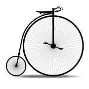 Penny farthing silhouette Stock Illustration