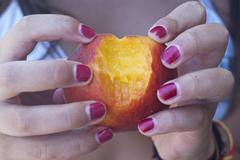 Hearth peach shape Stock Photos