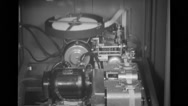 Monitor reel machine operating Stock Footage
