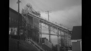 View of manufacturing plant Stock Footage