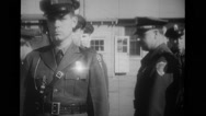 Inspection of military soldiers Stock Footage