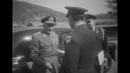 Military officers greeting each other Stock Footage