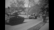 Military soldiers traveling in tanks Stock Footage