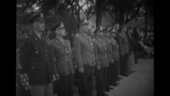 Military officers standing in a row Stock Footage
