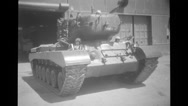 Soldier riding the tank Stock Footage