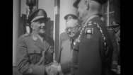 Military officers shaking hands Stock Footage