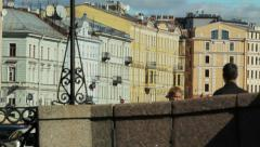 Historic houses in central St. Petersburg, Russia Stock Footage