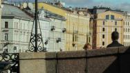 Stock Video Footage of Historic houses in central St. Petersburg, Russia