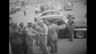 Military officers standing by car Stock Footage