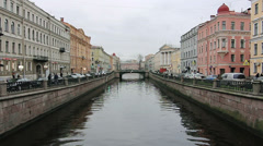 Griboyedov Canal, St.Petersburg, Russia Stock Footage